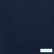 Warwick Augustus Midnight  | Curtain & Upholstery fabric - Blue, Plain, Fiber blend, Washable, Commercial Use