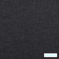 Warwick Beachcomber Graphite  | Upholstery Fabric - Black, Plain, Beach, Synthetic fibre, Washable, Black - Charcoal, Commercial Use, Halo