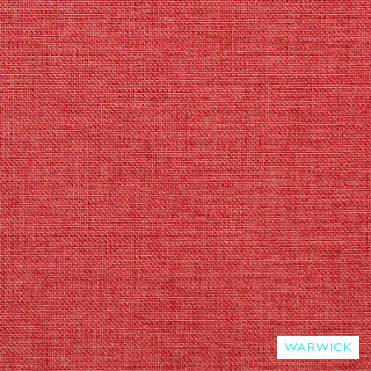 Warwick Beachcomber Scarlet    Upholstery Fabric - Plain, Red, Beach, Synthetic, Washable, Commercial Use, Halo