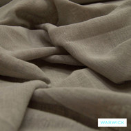 Warwick Chios Corfu Flint  | Curtain Sheer Fabric - Brown, Plain, Industrial, Synthetic, Washable, Domestic Use, Weighted Hem, Wide Width