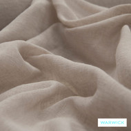 Warwick Chios Corfu Quartz  | Curtain Sheer Fabric - Beige, Plain, Synthetic, Tan, Taupe, Transitional, Washable, Domestic Use, Natural