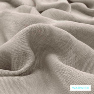 Warwick Chios Flax  | Curtain Sheer Fabric - Plain, Synthetic fibre, Transitional, Washable, Tan - Taupe, Domestic Use