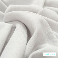 Warwick Chios Mist  | Curtain Sheer Fabric - Grey, Metallic, Plain, White, Synthetic, Washable, Domestic Use, Metal, White