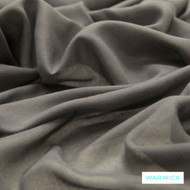 Warwick Chios Kasos Asphalt  | Curtain Sheer Fabric - Plain, Synthetic, Tan, Taupe, Transitional, Washable, Domestic Use, Weighted Hem