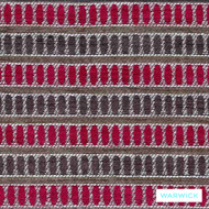 Lipstick' | Upholstery Fabric - Australian Made, Red, Eclectic, Geometric, Midcentury, Red, Stripe, Synthetic fibre, Washable, Commercial Use, Halo
