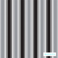 Platinum' | Curtain & Upholstery fabric - Australian Made, Black, Grey, Stripe, Synthetic fibre, Traditional, Washable, Black - Charcoal, Commercial Use, Halo