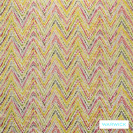 Warwick Cornucopia Calista Fiesta  | Curtain & Upholstery fabric - Gold,  Yellow, Contemporary, Geometric, Natural Fibre, Tan, Taupe, Washable, Chevron, Zig Zag, Natural