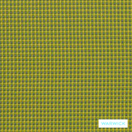 Warwick Crawford Gili Canary  | Upholstery Fabric - Green, Eclectic, Synthetic, Washable, Commercial Use, Halo