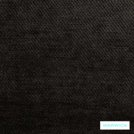 Warwick Dolce Onyx  | Curtain & Upholstery fabric - Plain, Black - Charcoal, Synthetic, Washable, Commercial Use, Halo