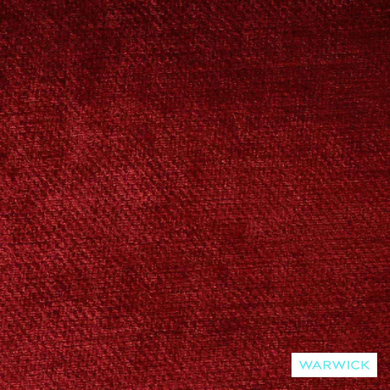 Warwick Dolce Ruby  | Curtain & Upholstery fabric - Burgundy, Plain, Red, Synthetic, Washable, Commercial Use, Halo
