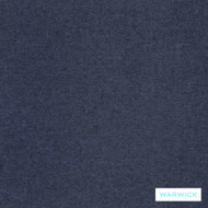 Warwick Dolly Denim  | Upholstery Fabric - Blue, Plain, Synthetic, Washable, Commercial Use, Halo