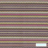 Warwick Hoxton Hammersmith Fuchsia  | Upholstery Fabric - Red, Eclectic, Fiber blend, Geometric, Midcentury, Pink, Purple, Small Scale, Washable, Chevron, Zig Zag, Domestic Use