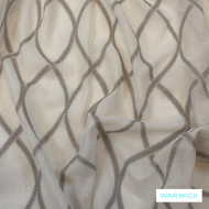 Quartz' | Curtain Sheer Fabric - Beige, Geometric, Synthetic fibre, Transitional, Washable, Domestic Use, Natural, Lattice - Trellis