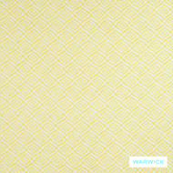 Warwick Jigsaw Ludo Sunshine  | Upholstery Fabric - Australian Made, Gold - Yellow, Contemporary, Diaper, Geometric, Synthetic fibre, Washable, Domestic Use, Halo