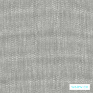 Warwick Keylargo Zinc  | Upholstery Fabric - Plain, White, Synthetic, Washable, Commercial Use, Halo, White