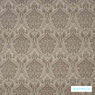 Smoke' | Upholstery Fabric - Grey, Damask, Fiber blend, Floral, Garden, Ogee, Traditional, Washable, Tan - Taupe, Commercial Use, Domestic Use