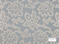 Bke_W369/04 'Glacier' | - Black, Blue, Metallic, Damask, Floral, Garden, Traditional, Domestic Use, Print, Metal