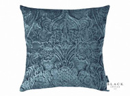 Black Edition  - Erbusco 50cm Cushion Orion  | - Black, Blue, Damask, Deco, Decorative, Traditional, Velvet, Cushion-Covers, Domestic Use, Decorative Weave