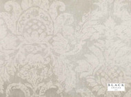 Black Edition - Lietti Wallcovering Rice Paper  | Wallpaper, Wallcovering - Beige, Metallic, White, Damask, Traditional, Domestic Use, Metal, Non-woven, White, Rococo