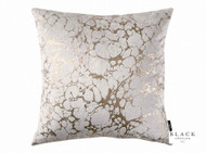 Black Edition  - Marmori 50cm Cushion Rose Gold  | - Grey, Metallic, Contemporary, Velvet, Abstract, Cushion-Covers, Domestic Use, Metal