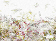 Black Edition  - Breathe 4m Wallcovering Wild Flower  | Wallpaper, Wallcovering - Green, Contemporary, Pink, Purple, Abstract, Domestic Use, Non-woven