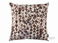 Black Edition - Kaleido 50cm Cushion Rosewood  | - Brown, Contemporary, Velvet/Faux Velvet, Abstract, Domestic Use, Print, Standard Width