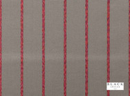 Black Edition  - Itarsi Red Tulip  | Curtain & Upholstery fabric - Black, Grey, Red, Contemporary, Natural fibre, Red, Stripe, Velvet, Domestic Use, Natural