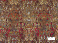 Bke_9035/02 'Cinnabar' | Curtain & Upholstery fabric - Black, Brown, Red, Damask, Eclectic, Fiber blend, Red, Velvet, Domestic Use, Print, Dry Clean