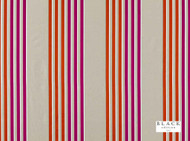 Black Edition  - Caselio Cayenne  | Curtain Fabric - Eclectic, Natural fibre, Pink, Purple, Silk, Stripe, Domestic Use, Natural