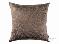 Black Edition  - Jarali 50cm Cushion Copper  | - Black, Brown, Damask, Deco, Decorative, Silk, Traditional, Cushion-Covers, Domestic Use, Decorative Weave