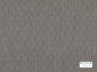 Black Edition  - Inza Pelican  | Curtain & Upholstery fabric - Blue, Grey, Deco, Decorative, Fiber blend, Geometric, Honeycomb, Transitional, Decorative Weave, Domestic Use