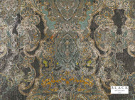Black Edition  - Maroque Wallcovering Meteor  | Wallpaper, Wallcovering - Blue, Gold,  Yellow, Green, Grey, Vinyl, Damask, Eclectic, Domestic Use, Print