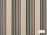 Black Edition - Caselio Ebony  | Curtain Fabric - Beige, Brown, Black - Charcoal, Eclectic, Natural Fibre, Silk, Stripe, Domestic Use, Natural, Standard Width