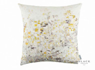 Black Edition - Breathe Cushion - Lichen  | - Gold,  Yellow, White, Contemporary, Pink, Purple, Velvet/Faux Velvet, Abstract, Domestic Use, Print, White, Standard Width