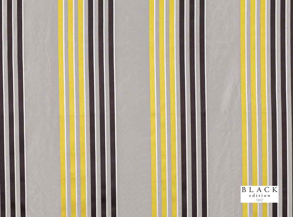 Black Edition - Caselio Acacia  | Curtain Fabric - Gold,  Yellow, Grey, Eclectic, Natural Fibre, Silk, Stripe, Domestic Use, Natural, Standard Width