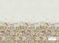 Black Edition - Breathe Wild Flower  | Curtain Fabric - Blue, White, Contemporary, Linen and Linen Look, Multi-Coloured, Natural Fibre, Pink, Purple, Abstract, Domestic Use