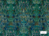 Black Edition  - Maroque Lazurite  | Curtain & Upholstery fabric - Blue, Green, Damask, Eclectic, Fiber blend, Pink, Purple, Velvet, Domestic Use, Dry Clean, Print