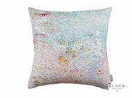 Black Edition  - Big Smile Cushion  | - Black, Blue, Contemporary, Linen and Linen Look, Pink - Purple, Abstract, Cushion-Covers, Domestic Use, Print