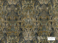 Black Edition  - Maroque Meteor  | Curtain & Upholstery fabric - Blue, Green, Damask, Eclectic, Fiber blend, Velvet, Domestic Use, Dry Clean, Print