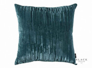Black Edition  - Lixier 50cm Cushion Teal  | - Blue, Plain, Cushion-Covers, Domestic Use, Textured Weave, Semi-Plain, Plain - Textured Weave