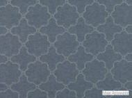 Mark Alexander - Paramount Indigo  | Curtain Fabric - Blue, Deco, Decorative, Geometric, Linen and Linen Look, Mediterranean, Natural Fibre, Quatrefoil, Decorative Weave