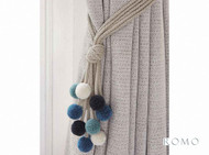 Rom_T70/02 'Danube' | Tie back, Curtain Accessory - Blue, Fiber blend, Domestic Use