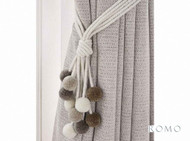 Rom_T70/07 'Oyster' | Tie back, Curtain Accessory - Beige, Blue, Brown, Grey, White, Contemporary, Fiber blend, Tan - Taupe, White, Domestic Use