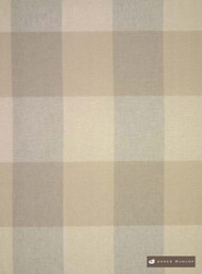 jd_19944-818 'Lichen' | Curtain Sheer Fabric - Check, Farmhouse, Geometric, Gingham, Natural fibre, Tan - Taupe, Domestic Use, Natural