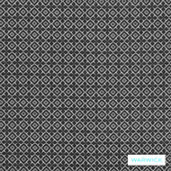 Warwick Marisol Clara Ebony  | Upholstery Fabric - Grey, Black - Charcoal, Contemporary, Diaper, Eclectic, Geometric, Synthetic, Washable, Domestic Use, Halo, Standard Width