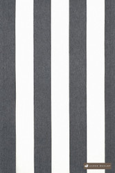 James Dunlop Long Beach - Obsidian  | Curtain Sheer Fabric - Grey, White, Beach, Natural fibre, Stripe, Traditional, Domestic Use, Natural, White