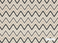 Romo - Scala Charcoal  | Curtain & Upholstery fabric - Beige, Blue, Grey, Black - Charcoal, Geometric, Natural fibre, Southwestern, Washable, Chevron, Zig Zag, Domestic Use, Natural, Print