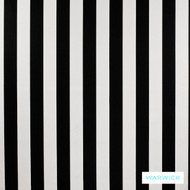 Warwick Monochrome Della Platinum  | Curtain Fabric - Australian Made, White, Black - Charcoal, Contemporary, Stripe, Synthetic, Traditional, Washable, Domestic Use, Halo, White
