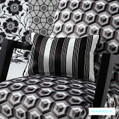 Washable upholstery fabrics from the Monochrome Mystere design style range from Warwick