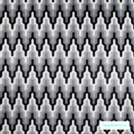 Warwick Monochrome Bootleg Platinum  | Upholstery Fabric - Australian Made, Grey, White, Art Noveau, Black - Charcoal, Contemporary, Geometric, Mediterranean, Synthetic, Halo